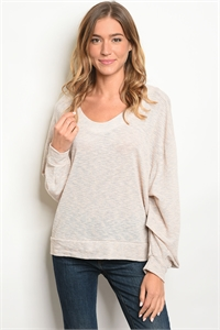 C59-A-1-T77071 OATMEAL GRAY TOP 3-2-2