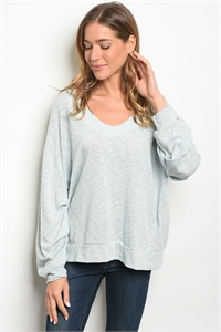 C56-A-6-T77071 MINT GRAY TOP 2-2-2