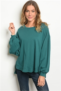 C73-A-4-T77251 TEAL TOP 2-2-2