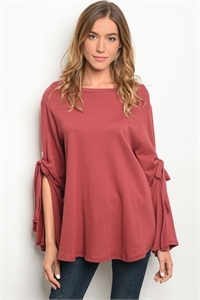 C59-A-1-T75042 MAROON TOP 2-2-3
