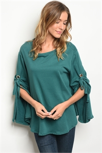 C69-A-6-T75042 TEAL TOP 2-2-2
