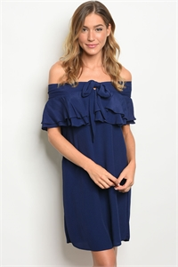 135-2-5-D655003 NAVY OFF SHOULDER DRESS 1-2-2-1