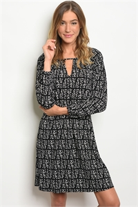 S11-20-2-D540101 BLACK WHITE DRESS 1-2-2-1