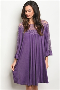 136-2-2-D15513 PURPLE DRESS 3-2-2