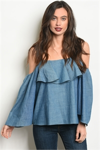 S18-9-3-T15084 DENIM TOP 2-2-2