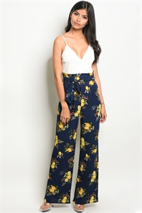 C37-A-2-NA-J19243 IVORY NAVY WITH LEMON PRINT JUMPSUIT 2-2-2