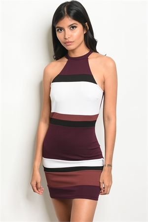 123-3-1-NA-D31645 PLUM BURGUNDY DRESS 3-2-1