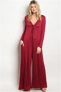 S9-13-1-J8114 BURGUNDY JUMPSUIT 2-2-2