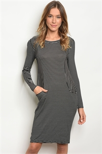 C66-A-2-D112 BLACK WHTIE STRIPES TOP 2-2-2