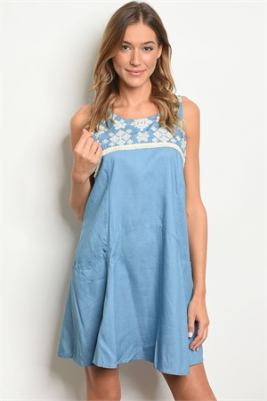 S3-4-4-D4284 LIGHT BLUE DRESS 2-2-2