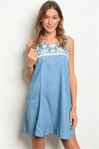 S19-8-4-D4284 LIGHT BLUE DRESS 1-1