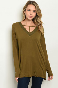S7-2-3-T23570 OLIVE TOP 2-2-2