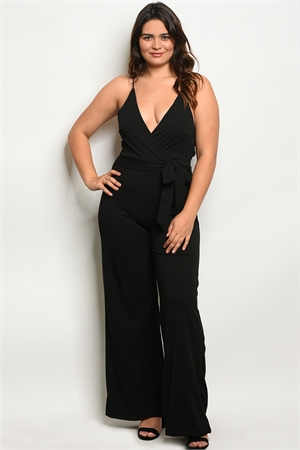 Y-B-J3876X BLACK PLUS SIZE JUMPSUIT 2-2-2