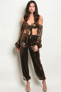 C20-A-3-SET30296 GOLD TOP & PANTS SET 3-2-1