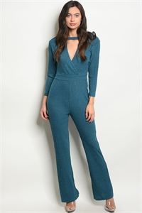 S11-7-2-J38677 TEAL JUMPSUIT 2-2-2