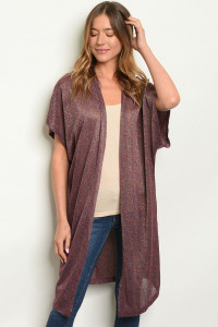 S17-4-4-C59372 WINE SHIMMER KIMONO 1-1-1  ***WARNING: California Proposition 65***
