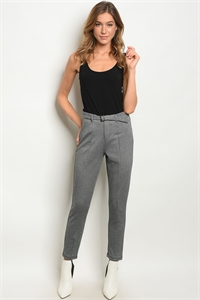 S13-11-3-P13122 BLACK GRAY PANTS 3-2-1
