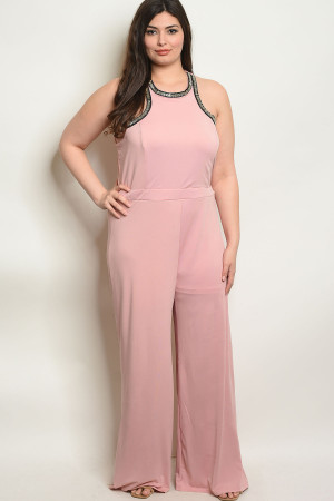 113-4-2-J5651X BLUSH PLUS SIZE JUMPSUIT 2-2-2