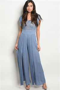 110-2-1-J2223 BLUE JUMPSUIT 2-2-2