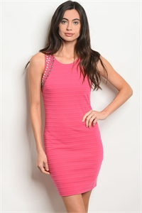126-3-1-D2361 FUCHSIA DRESS 2-3-2
