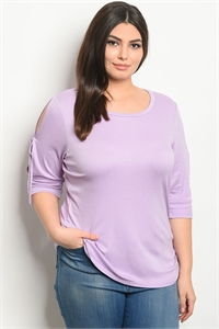 C96-A-7-T20790X LILAC PLUS SIZE TOP 2-2-2