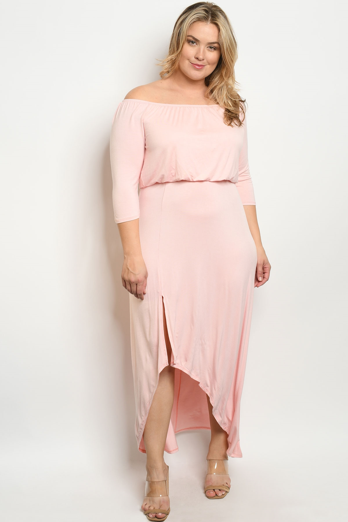 C100-A-3-D7905X BLUSH PLUS SIZE DRESS 2-2-2