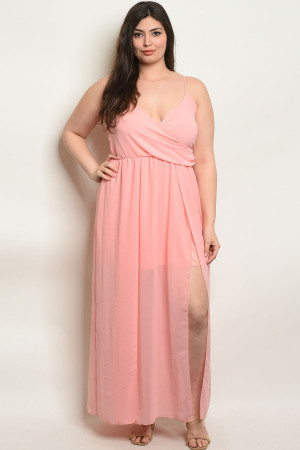 102-A-2-D6845X BLUSH PLUS SIZE ROMPER 2-2-2