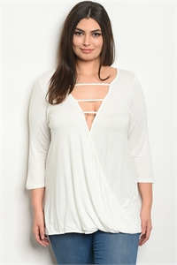 S3-5-3-T20604X OFF WHITE PLUS SIZE TOP 2-2-2