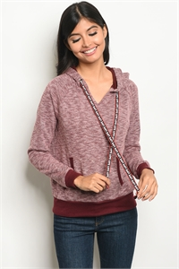 125-3-3-T38684 WINE SWEATER 2-2-2