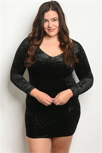 C57-A-1-D1418X BLACK PLUS SIZE DRESS 2-2-2