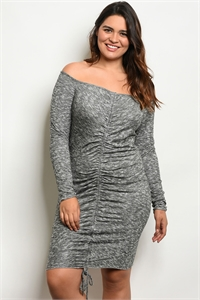 C66-A-2-D1434X GRAY PLUS SIZE DRESS 2-2-2