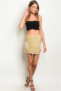 S20-12-3-S1888 NUDE GOLD WITH SEQUINS SKIRTS 2-2-2