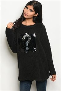 C10-B-1-S4290 BLACK FLEECE SWEATER 2-2-2