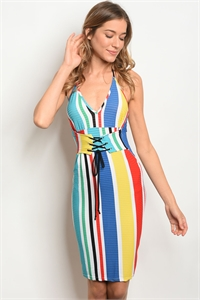 C74-A-2-D50567 MULTI COLOR DRESS 3-2-1