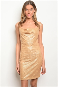 S22-1-2-AD649 GOLD SEQUINS DRESS 2-2-2