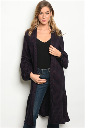 S4-1-3-C13564 NAVY RED CARDIGAN 3-2-1
