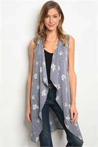C67-A-6-C3935-2 NAVY WHITE FLORAL CARDIGAN 2-2-2