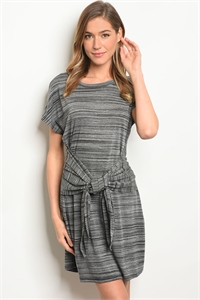 C69-A-4-D11231-2 BLACK GREY DRESS 2-2-2