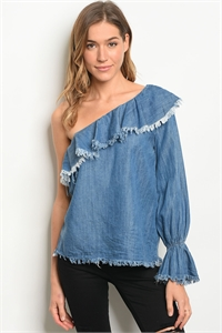 S19-5-2-T6148 DENIM BLUE TOP 2-2-2
