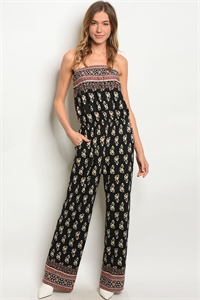 82e970ff4977 Quick View this Product C76-A-6-J17481 BLACK FLORAL JUMPSUIT 2-2-2 ...