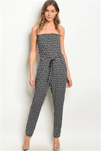 C78-A-1-J1753 BLACK WHITE JUMPSUIT 2-2-2