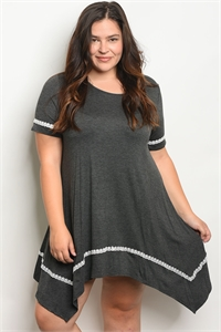 C12-A-7-D510X CHARCOAL PLUS SIZE DRESS 2-2-2