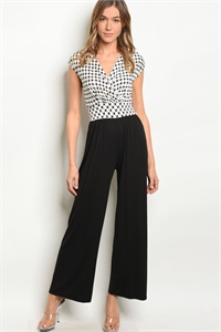 C82-A-2-J718A-6 BLACK WHITE JUMPSUIT 2-2-2