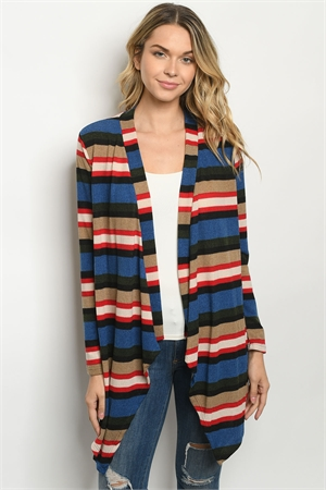 C46-A-3-T2835A NAVY RED CARDIGAN 2-2-2