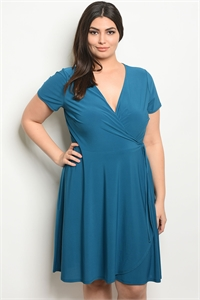 C99-A-1-D140814AX TEAL PLUS SIZE DRESS 2-2-2