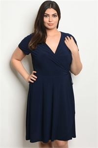 C79-A-1-D140814AX NAVY PLUS SIZE DRESS 2-2-2