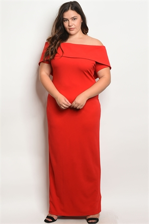 S3-4-2-D9060X RED PLUS SIZE DRESS 2-2-2