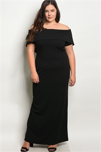 S3-4-3-D9060X BLACK PLUS SIZE DRESS 2-2-2