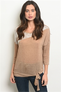 C33-A-4-T9144 TAUPE TOP 2-2-2
