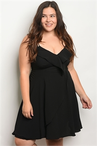 C79-A-1-D1519X BLACK PLUS SIZE DRESS 2-2-2